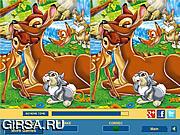 Флеш игра онлайн Бэмби. Найдите отличия / Bambi Difference