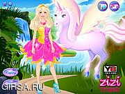 Флеш игра онлайн Барби и единорог