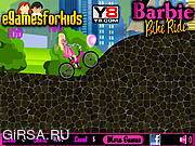 Флеш игра онлайн Barbie Bike Bike