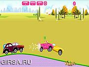 Флеш игра онлайн Гонки с Барби