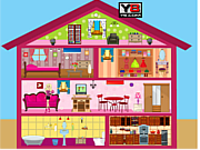 Флеш игра онлайн Кукольный домик / Barbie Doll House Decor