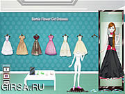Флеш игра онлайн Наряд для Барби / Barbie Flower Girl Dresses