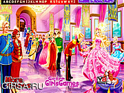 Флеш игра онлайн Barbie in Royal Party Hidden Letters