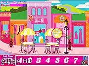Флеш игра онлайн Барби на улице. Скрытые буквы