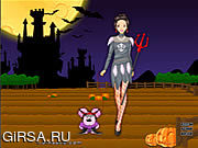 Флеш игра онлайн Барби в Хэллоуин