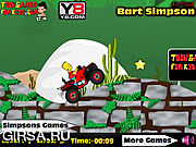 Флеш игра онлайн Bart Simpson ATV Drive