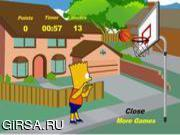 Флеш игра онлайн Bart Simpson Basketball Game
