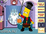 Флеш игра онлайн Bart Simpson Halloween Dressup
