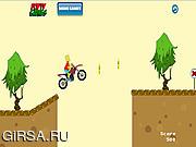 Флеш игра онлайн Bart Simpsons Bike