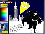 Флеш игра онлайн Бэтман. Раскраска / Batman Cartoon Coloring