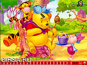 Флеш игра онлайн Hidden Numbers - Winnie The Pooh