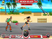 Флеш игра онлайн Ролики на Пляже