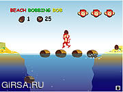 Флеш игра онлайн Пляж Подпрыгивая Боб / Beach Bobbing Bob