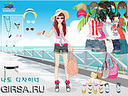 Флеш игра онлайн Beach Doll Dress Up