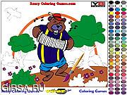Флеш игра онлайн Раскрась медведя