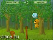 Флеш игра онлайн Мишки играют в волейбол / BearBall