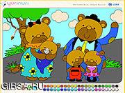 Флеш игра онлайн Семья медведя / Bear Family