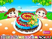 Флеш игра онлайн Красивый шоколадный пирог / Beautiful Chocolate Cake