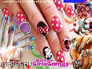 Флеш игра онлайн Прекрасный маникюр / Beautiful Girl Nails Design Hidden Letters