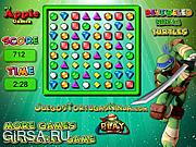 Флеш игра онлайн Bejeweled Ninja Turtles
