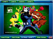 Флеш игра онлайн Бен 10. Мозайка / Ben 10 all powers Jigsaw