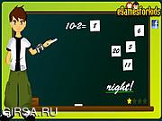 Флеш игра онлайн Бен. Математическая игра / Ben 10 Math Game