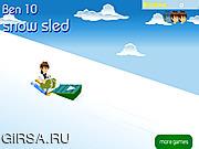 Флеш игра онлайн Санки для Бена / Ben 10 Snow Sled