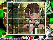 Флеш игра онлайн Бэн 10 Пазл / Ben 10 Spin Puzzle