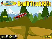 Флеш игра онлайн Бен 10 грузовиков Поездка / Ben 10 Truck Ride