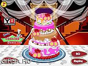 Флеш игра онлайн Свадебный торт Deco