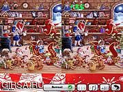 Флеш игра онлайн Большой Санта. Найди 5 отличий
