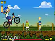Флеш игра онлайн Ралли Велосипед / Bike Rally