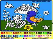 Флеш игра онлайн Раскраска - Птицы