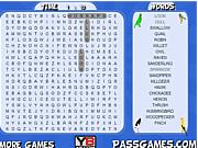 Флеш игра онлайн Птиц-Поиск Слов / Birds Word Search
