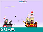 Флеш игра онлайн Black Beard Down