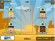 Флеш игра онлайн Стрельба на вылет / Bottle on Head Level Pack