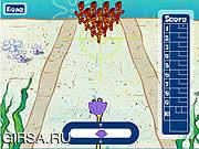 Флеш игра онлайн Spongebob Squarepants в боулинге дна Бикини