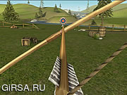 Флеш игра онлайн Bowmaster Целевой Диапазон / Bowmaster Target Range