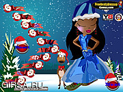 Флеш игра онлайн Братц Рождество / Bratz Kidz Christmas Decor