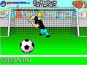 Флеш игра онлайн Джонни Браво В Браво Вратарь / Johnny Bravo In Bravo Goalie
