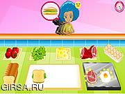 Флеш игра онлайн Breakfast Sandwich Shop