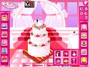 Флеш игра онлайн Праздничный торт / Bridal Shower Cake