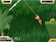 Флеш игра онлайн Приключение в джунглях бронка по