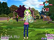 Флеш игра онлайн Одеваем Ирен / Bubble Girl Dress
