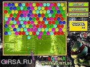 Флеш игра онлайн Веселые шарики черепашки Ниндзи / Bubble Ninja Turtles
