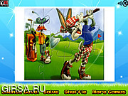 Флеш игра онлайн Багз Банни и Баффи. Пазл / Bugs Bunny And Daffy Puzzle