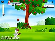 Флеш игра онлайн Багс Банни и яблоки / Bugs Bunny Apples Catching
