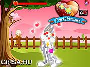 Флеш игра онлайн Поцелуй Багс Банни / Bugs Bunny Kissing