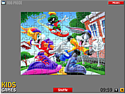 Флеш игра онлайн Багз Банни. Пазл / Bugs Bunny Puzzle