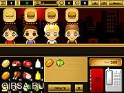Флеш игра онлайн Бургер Бар / Burger Bar